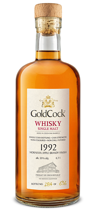 GOLD COCK 1992 MORAVIAN APPLE BRANDY FINISH SINGLE CASK 59% 0,7L