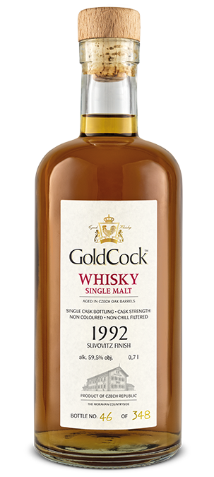 GOLD COCK 1992 SLIVOVITZ FINISH SINGLE CASK 59,5% 0,7L