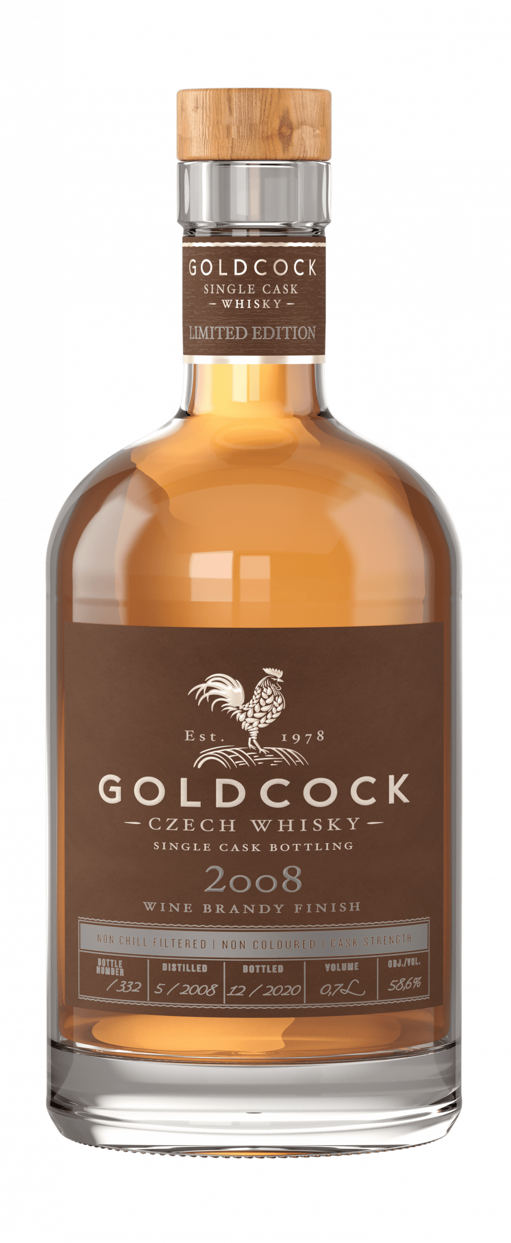 GOLDCOCK 2008 WINE BRANDY FINISH 58,6% 0,7L
